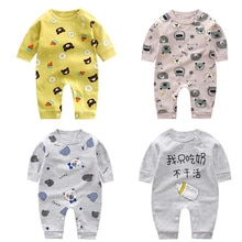 2021 Infant Onesies Spring Autumn New Romper Long-sleeved Cotton Rompers Baby Clothes Cartoon Jumpsu