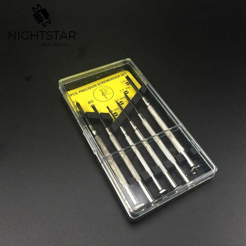 6 sztuk wkrętak precyzyjny Micro Jewelers Mini zegarmistrz narzędzia do zegarka pasek do usuwania piny łączące uchwyt Punch Hammer