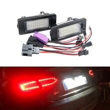 Ampoule de plaque dimmatriculation arrière CANbus LED lampe de plaque dimmatriculation pour Audi A4 B8, A5, Q5, S5, TT 2010 pour VW Passat