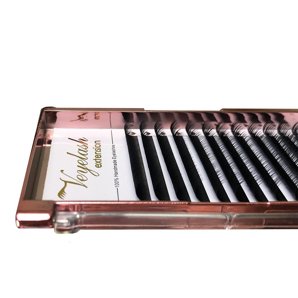 Viplash Mink Eyelash Extensions Private Labels Individual Eyelash Natural Silk Lashes Russian Volume Soft Eyelashes Supplier