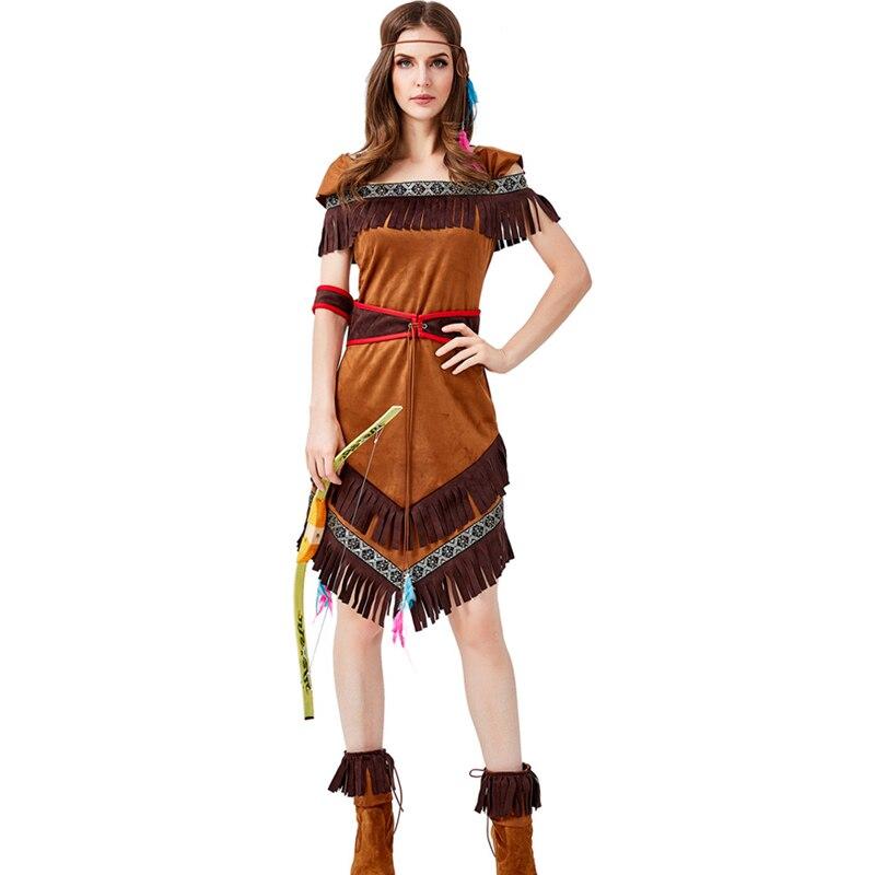 Women Indiana Huntress Costume Halloween Brave Archer Fancy Dress