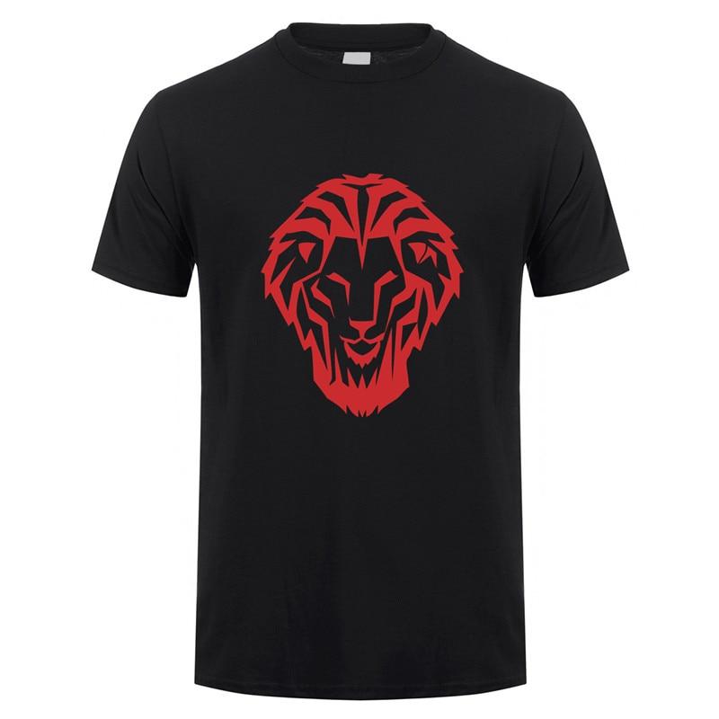 Camisetas de manga corta para hombre de Camisa de algodón de Leon...