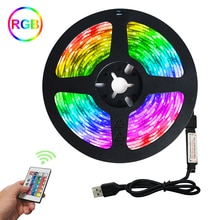 LED Strip light Flexible Diode Tape DC 5V LED Lights Strip SMD2835 24 keys control USB RGB Lamp for