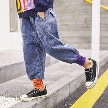 Jeans en Denim pour enfants   Salopettes, pantalons élastiques dautomne et dhiver pour garçons de 6-7-9-10-12-13 ans
