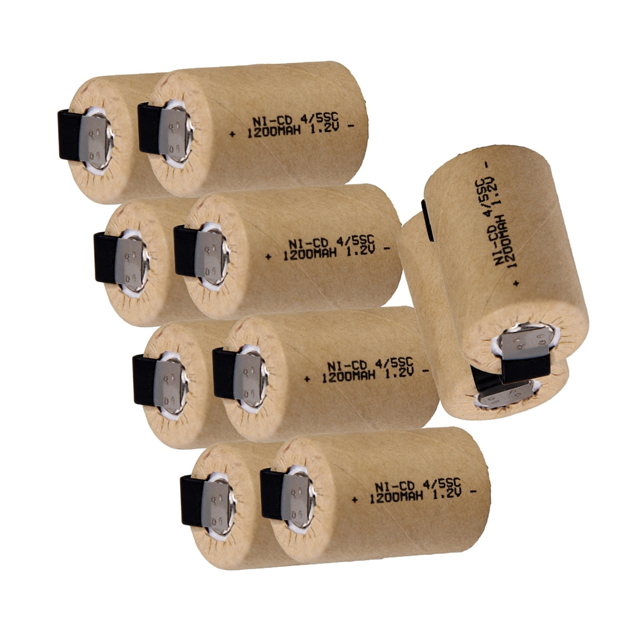 Yeckpowo 10 pièces outil électrique 4/5SC batterie perceuse électrique nicd 1.2v 1200mAh tournevis subc batteries pour black & decker pour B & D