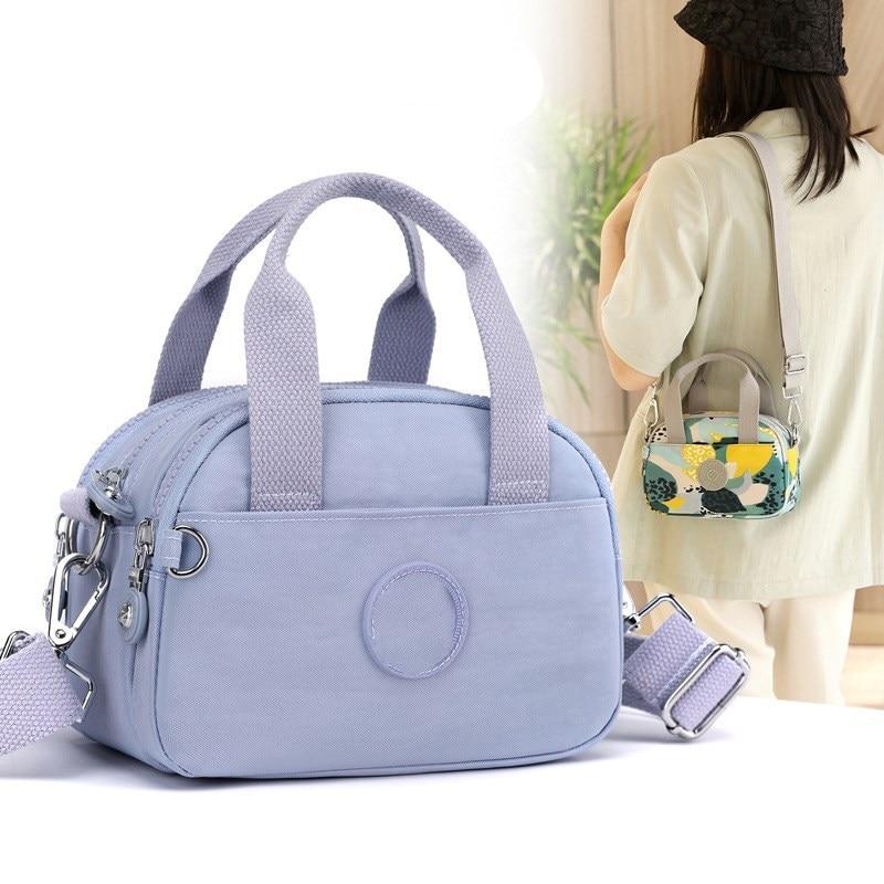 New women's bag lightweight portable messenger bag waterproof colorful nylon cloth small bag casual shoulder bag