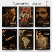 new season narcos tv kraft paper poster retro wall art crafts sticker living room paint bar cafe home decorative painting