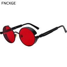 Moda okrągłe mężczyźni kobiety Steampunk okulary metalowe klasyczne okulary Retro rama Vintage mężczyzna kobiet gogle UV400 okulary