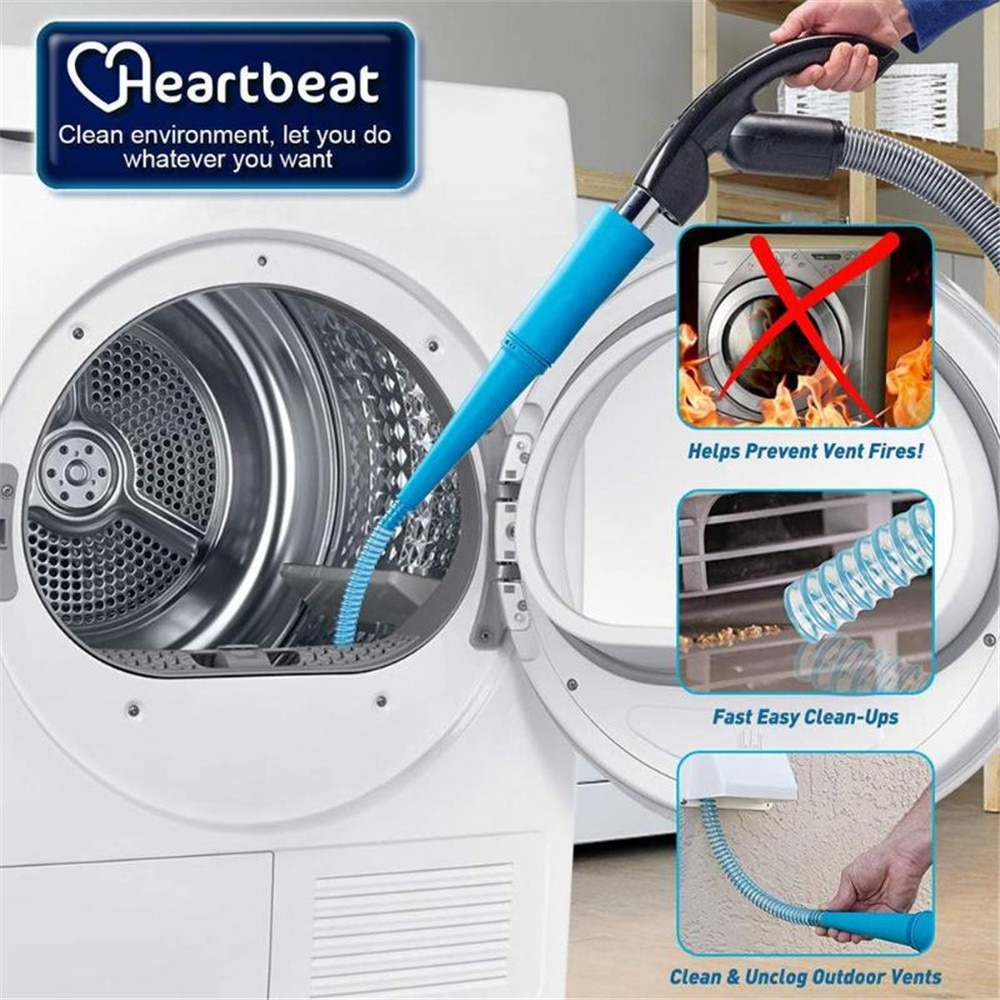 1M secador portátil de pelusa mangueras de vacío limpiador eliminación de polvo tubo de extensión para lavadora secadora ventilación fijación herramienta de limpieza del hogar