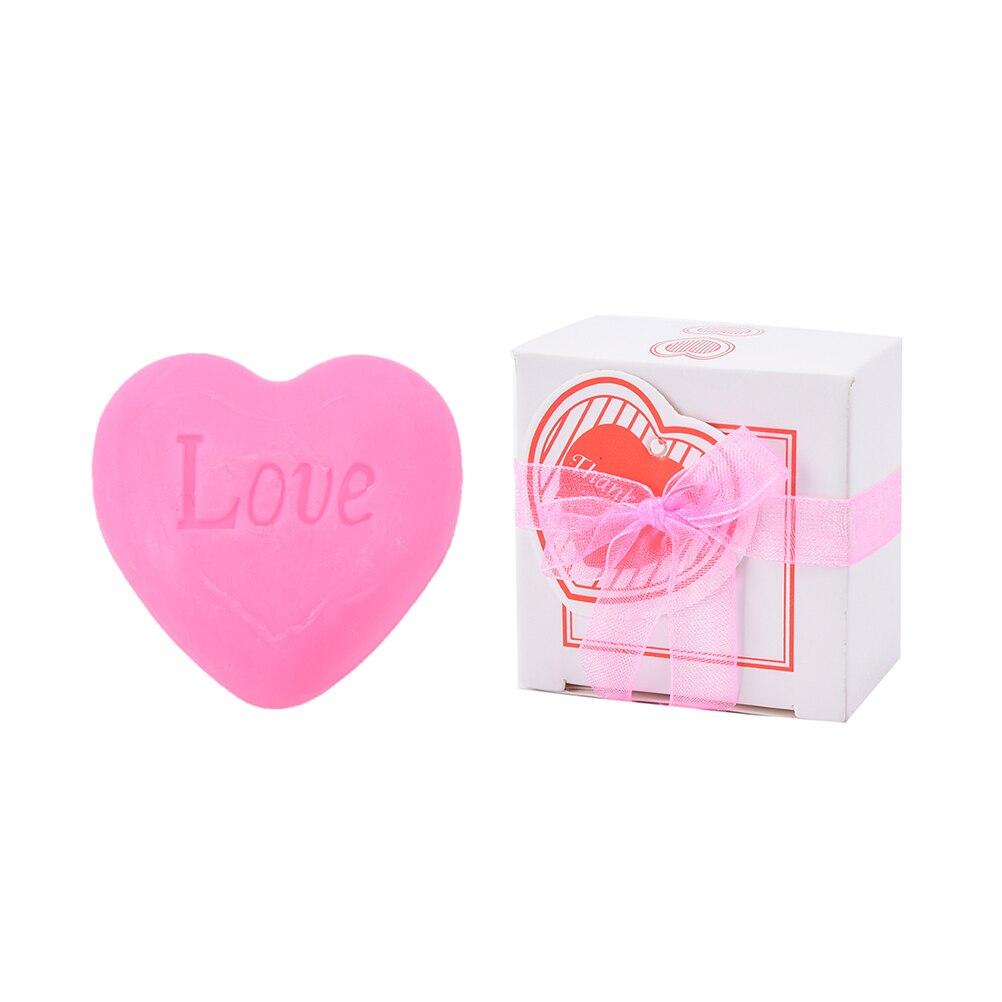 Handmade love heart-shaped design bath soap wedding love gift decontamination