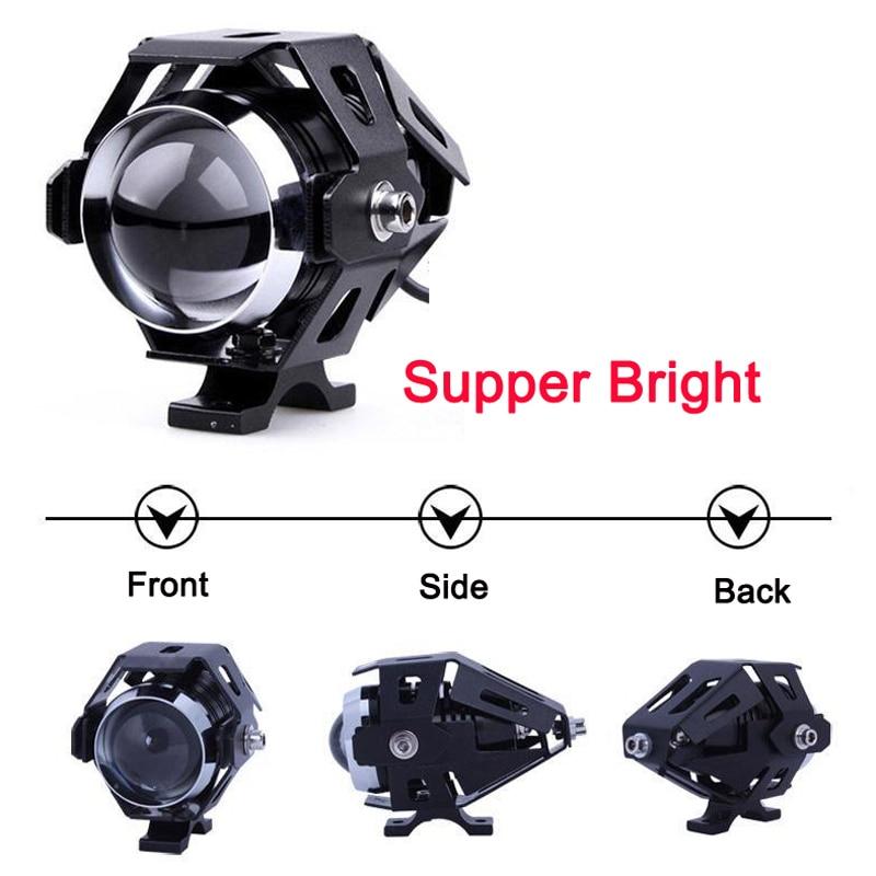 Faro LED para motocicleta U5, resistente al agua, faro Led para moto Ebike de 12V-80V, reflector para moto eléctrica, triciclo ATV