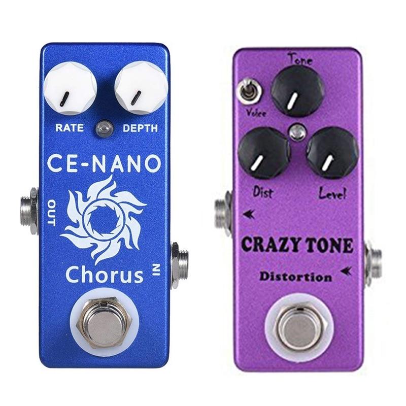 Nuevo MOSKY 2 uds motín distorsión Pedal de guitarra solo efecto Bypass verdadero guitarra loco tono y CE-NANO