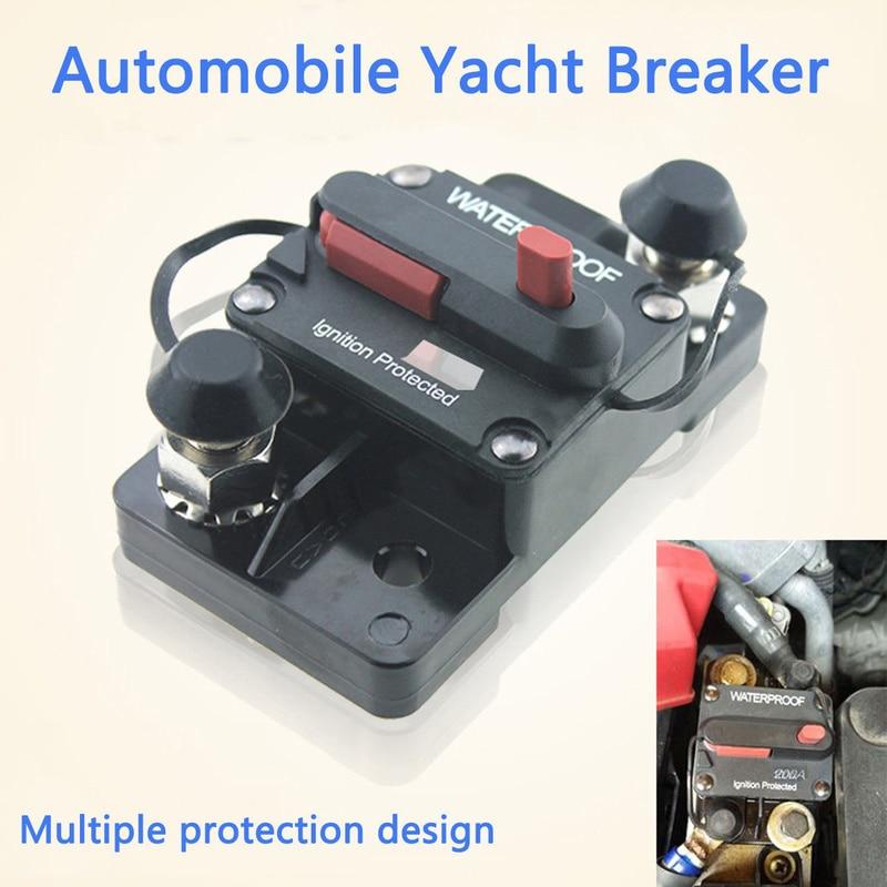 30A 40A 50A 60A 70A 80A 100A 120A 150A 200A 250A 300A AMP Circuit Breaker Fuse Reset 12-48V DC Car Boat Auto Waterproof