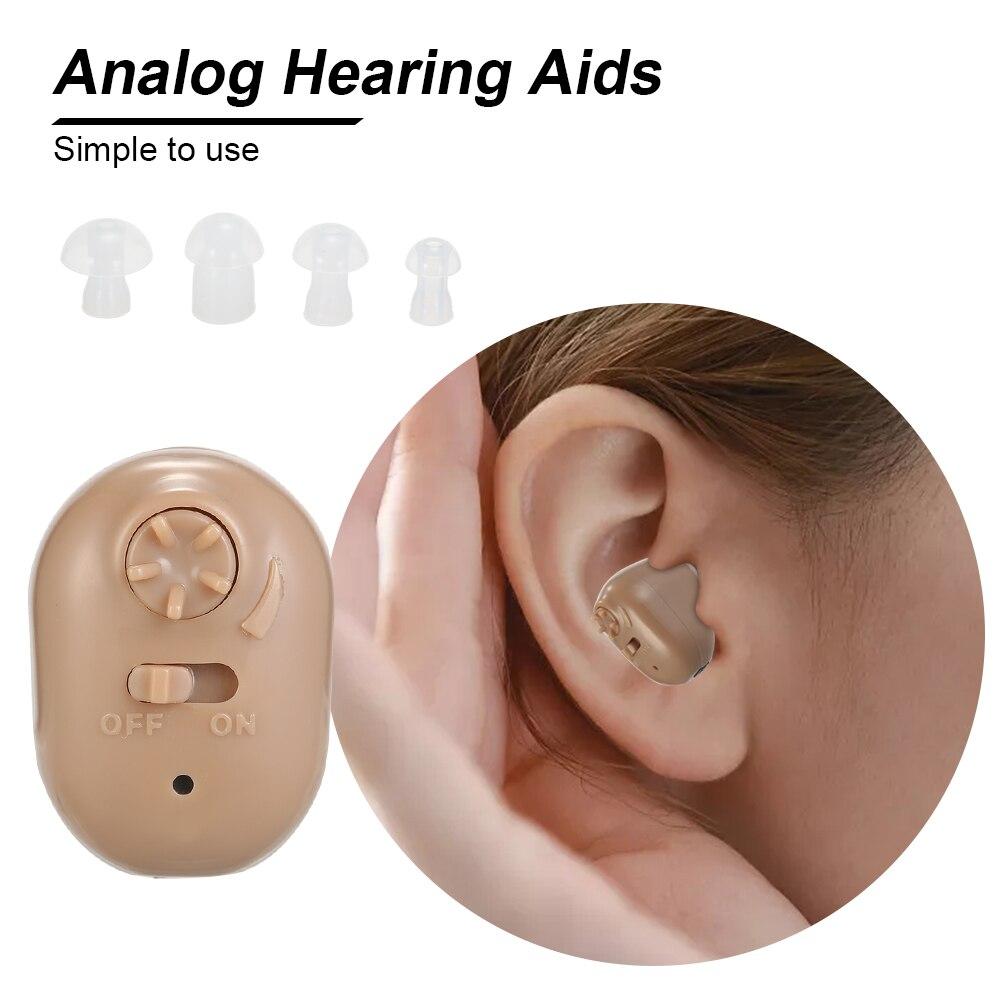 Hörgeräte für Erwachsene & Senioren Tragbare Wiederaufladbare Sound Verstärker mit Lagerung Fall In Ohr Hören Verbesserung Gerät
