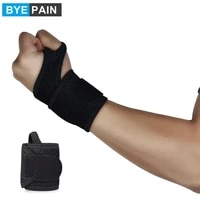 1pcs byepain adjustable reversible sports wrist brace support wrap fitted thumb stabilizer for volleyball weightlifing