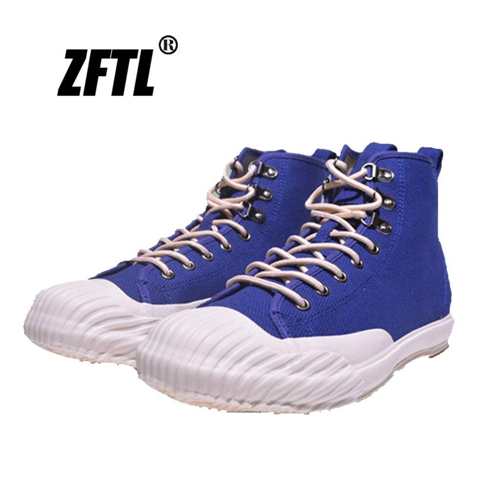 ZFTL الرجال حذاء قماش أحذية مفلكنة عالية top الأدوات الرجعية اليابان الفلكنة الدانتيل يصل أحذية رياضية رجل حذاء كاجوال