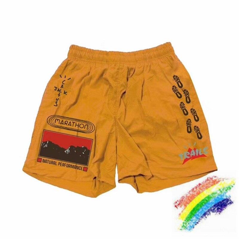 Travis Scott Cactus Jack Trails pantalones cortos de camino hombres mujeres 11 mejor calidad Vetements Shorts amarillo Cactus Jack breechcloth