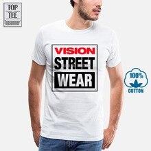 Nouvelle Vision Streetwear Skateboard Personnalisé Hommes T-Shirt Blanc T-Shirt