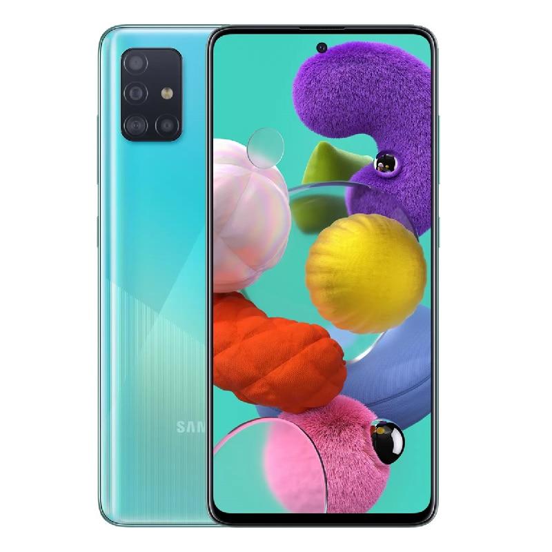 Перейти на Алиэкспресс и купить Samsung Galaxy A51 A515FD 90% разблокированный сотовый телефон Dual SIM глобальная Версия 6,5 дюйм4 Гб + 128 ГБ ROM, Octa Core, 4 Гб Камера, определение отпечатка пальца NFC