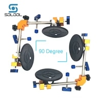 2pcslot 90 degree stone seam setter with 6 suction cup for seam joining leveling