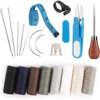 imazy 20 pcs leather hand sewing craft tools 8 pcs leather sewing threads 7 pcs leather sewing needles leather needle sewing