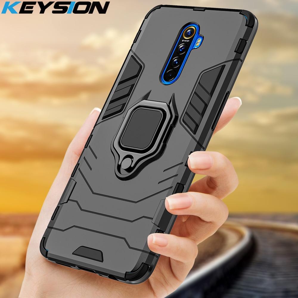 Keysion caso armadura à prova de choque para realme x2 pro xt 5 pro c2 anti-queda de volta capa para oppo a9 a5 2020 reno3 pro reno 2 z f11 pro
