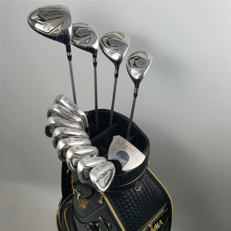 New 525 Golf Clubs HONMA BEZEAL 525 Complete Set HONMA Golf driver.wood.irons.putter Graphite Golf shaft (no bag) Free shipping