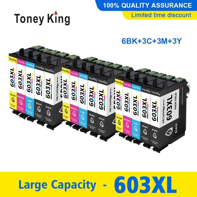 Cartucho de Tinta Compatível para Epson xl Xp-2100 Xp-2105 Xp-3100 Xp-3105 Xp-4100 Xp-4105 Wf-2810 Wf-2830 4 Cor 603xl T603 603