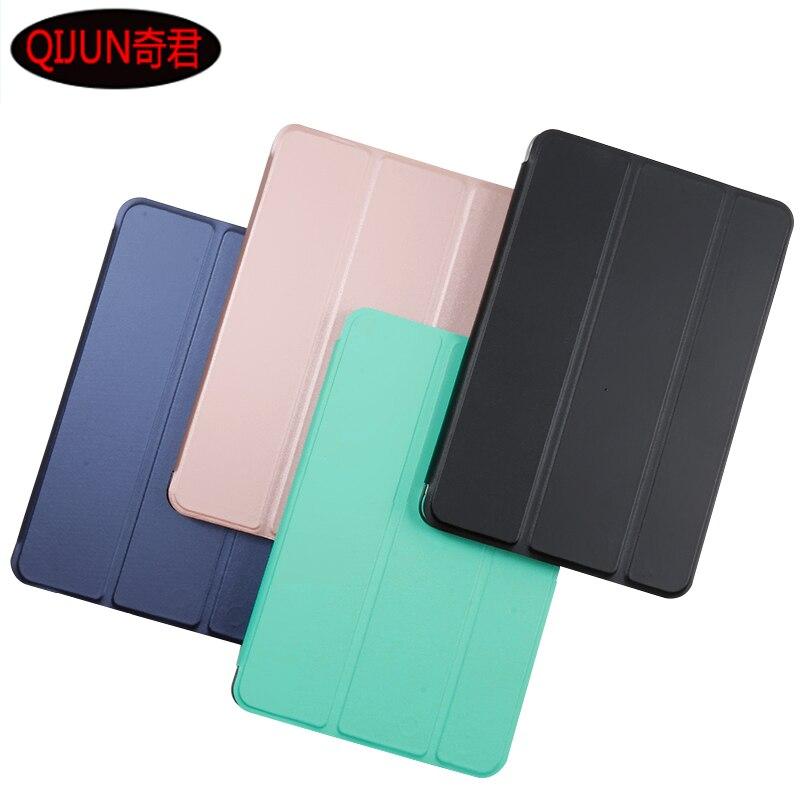 "Para HUAWEI MediaPad T5 10 AGS2-W09/W19/L09/L03 Honor Pad 5 10,1 ""Tablet, Funda de cuero PU inteligente dormir Tri-fold soporte de cubierta"