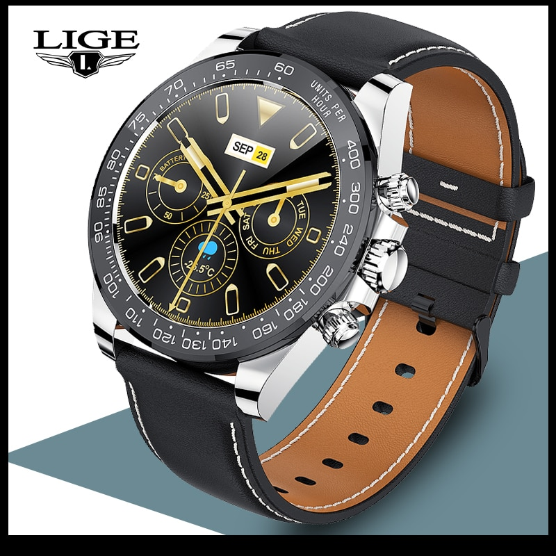 LIGE New Bluetooth Call Men Smart Watch Sport Fitness Tracker IP68 Waterproof Watches Heart Rate Sle