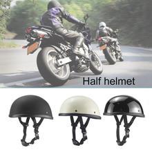 Motard moto demi-casque allemand   Casque demi-visage, Chopper Cruiser motard Scooter demi-casque crâne chapeau hachoir Bobber Biker