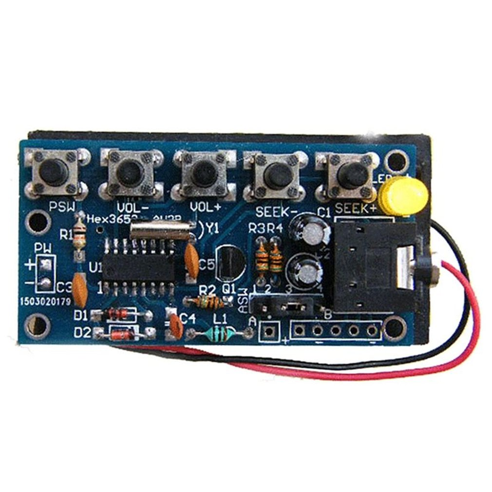 Wireless Stereo FM Radio Receiver Module PCB DIY Electronic Kits 76MHz-108MHz Environmentally friendly materials nktech cze 15b adjustable 0 3w 15w 87mhz 108mhz with pc control fm transmitter broadcast radio station stereo lcd backlight