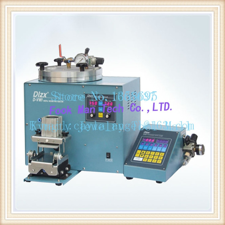 jewellery making Free Shipping Brasil Jewelry Wax Injector Machine Digital Vacuum Wax Injector with Vacuum Pump
