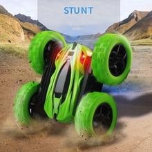 Дистанционное управление автомобиль RC автомобиль ToyWith 2,4G 4CH трюк Дрифт деформации Багги Рок Гусеничный ролл автомобиль флип детские игрушк...