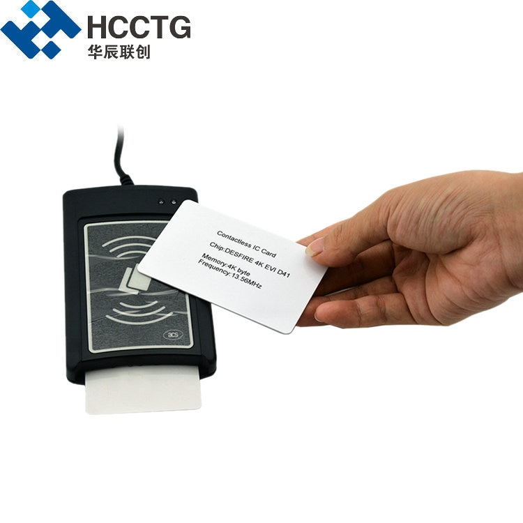 13.56MHz USB ISO14443 نظام الدفع اللاسلكي بدون اتصال قارئ بطاقات الذكية الكاتب (ACR1281u-C8)