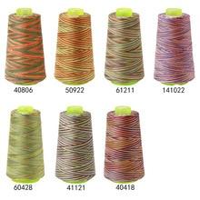 Juego de hilo colorido para máquina de coser, bordado de hilo de Nylon, aplique de carrete para bordado de hilo en la ropa, accesorios de costura