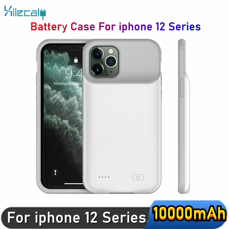 حافظة شاحن بطارية للهاتف من xilecali لهواتف iPhone 12 12mini 12Pro 12Promax رفيعة للغاية بطارية 10000 مللي أمبير في الساعة علبة شحن باور بانك
