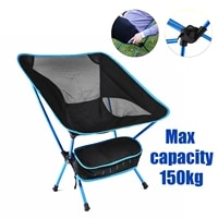 ultralight travel folding chair superhard high load outdoor camping chair portable beach hiking picnic seat fishing tools chair