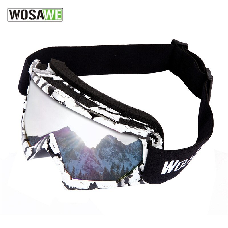 WOSAWE Motorcycles Glasses Outdoor Sports Ski Goggles Color Lens UV400 Anti-fog Skiing Sunglasses Eyewear Men Women Snow Glasses enlarge