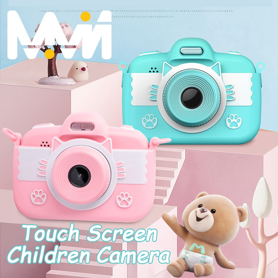 Cámara 4K con pantalla táctil para niños, Mini juguetes educativos para niños,...