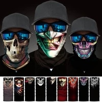 new 3d skull faces scarf outdoor multi use men magic changeable neck tube snood bandana warmer unisex scarves