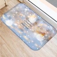 40x60cm cute christmas diy print floor mat bathroom ground mat slip door bath pad rug living room kitchen carpet home decor