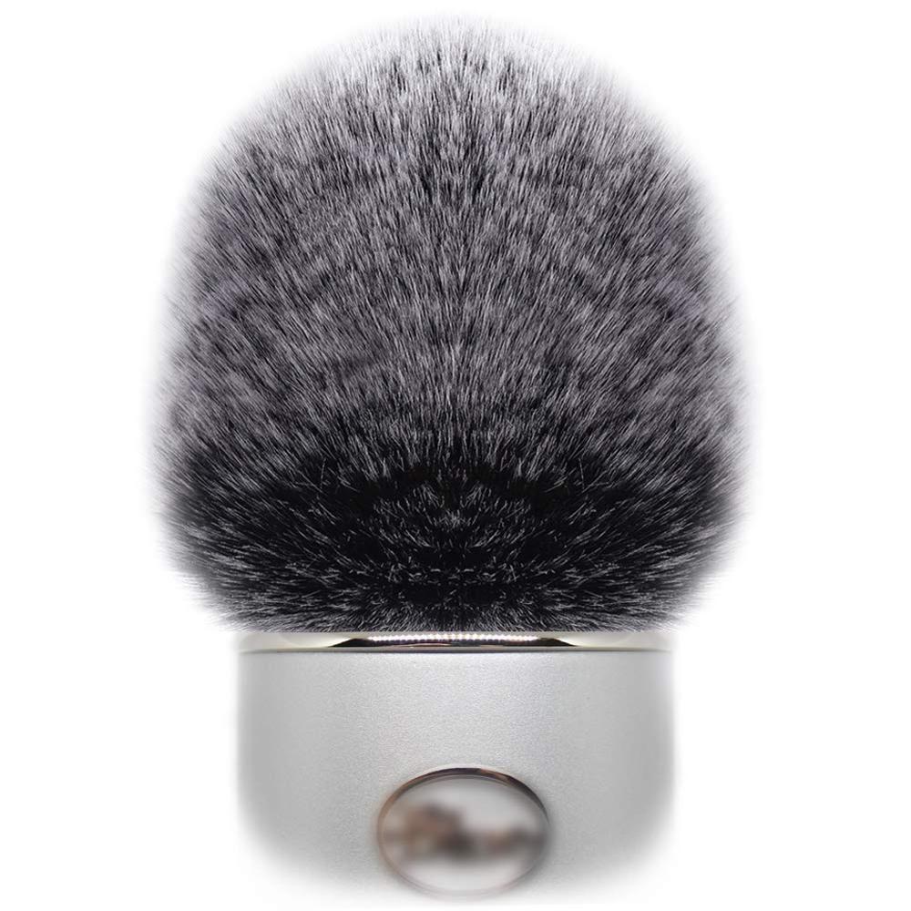Pele artificial vento microfone capa muff windscreen manga escudo para azul yeti, yeti pro condensador microfones