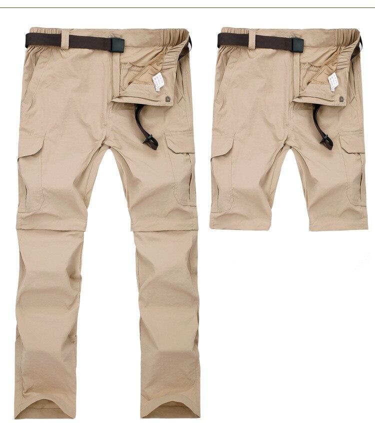 Брюки-карго мужские быстросохнущие, дышащие штаны, съемные в стиле милитари, джоггеры, армейские водонепроницаемые тактические штаны с кар...