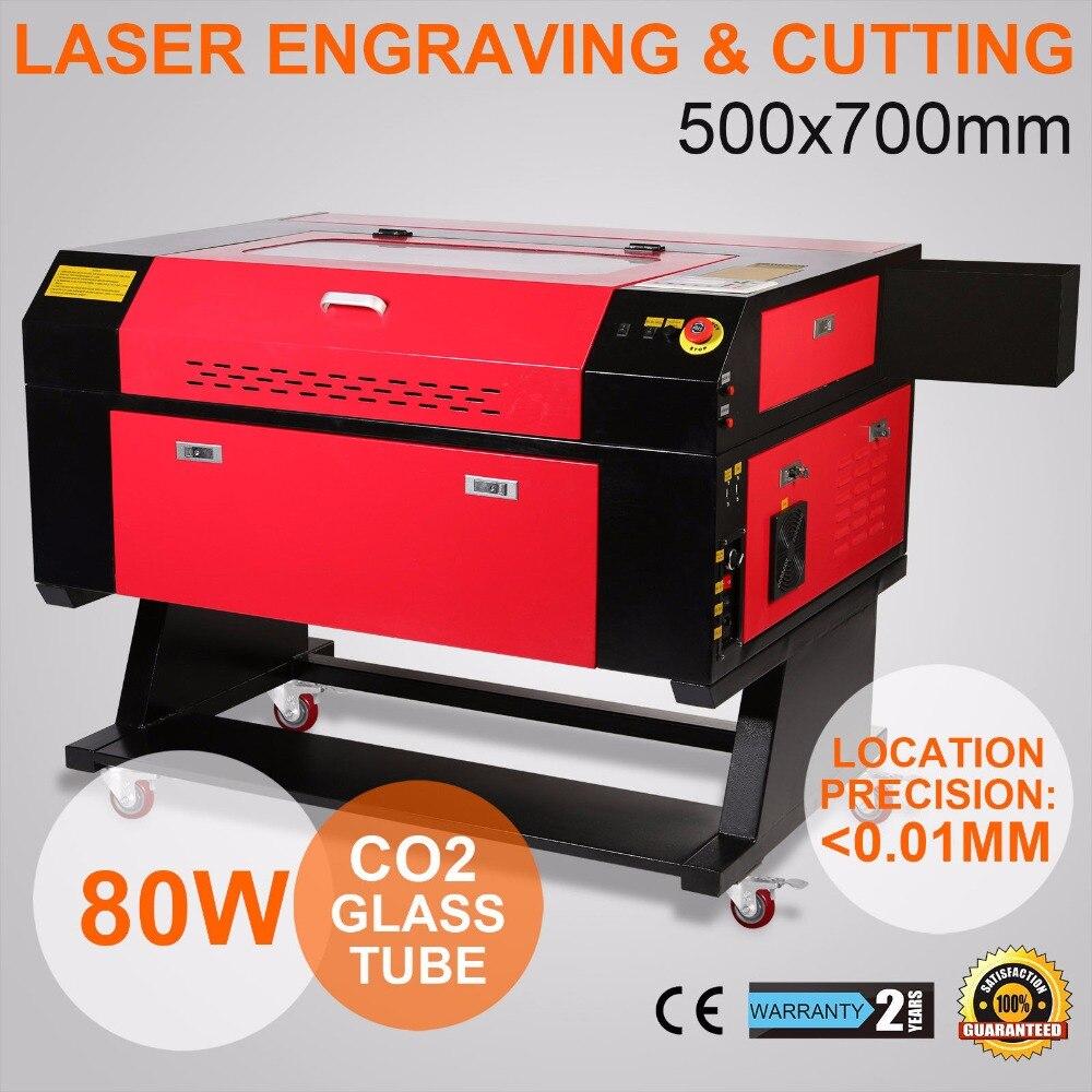 Máquina de grabado láser de 80W, máquina de grabado láser CO2 de eje rotativo, 700x500mm