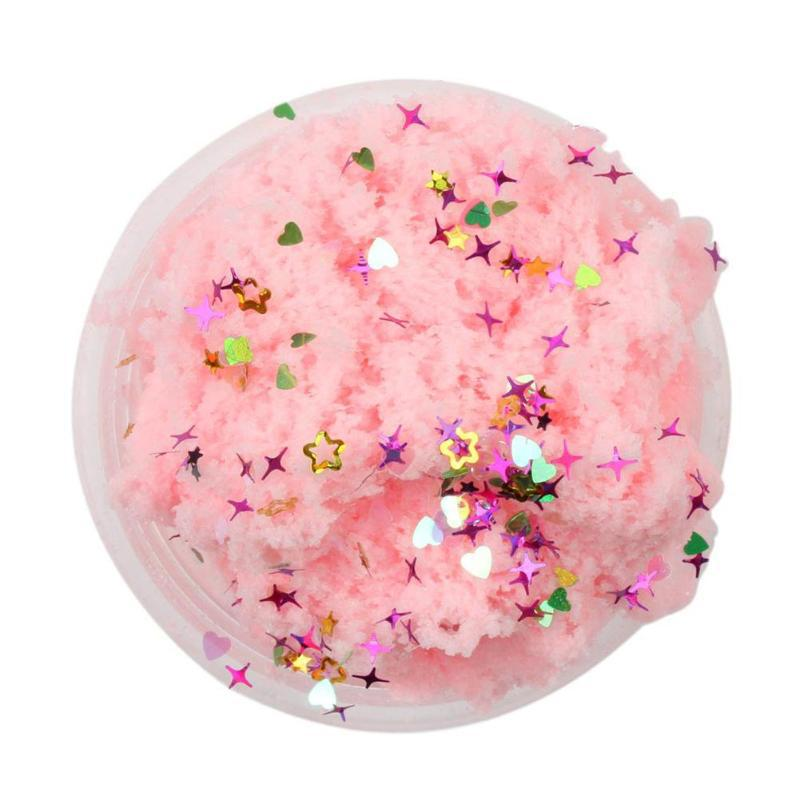 Nube Slime miles de seda fango lentejuelas Slime estirado fideos barro DIY arcilla coloreada plastilina Juguetes