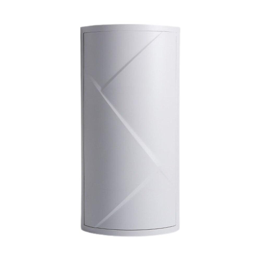 رف مثلث قائم بذاته لسطح المكتب قابل للدوران 360 درجة أدوات مكياج للحمام المنزلي رف تخزين دولاب زاوية طبقة واحدة