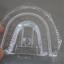 30 Pcs/Lot Denture Tray Disposable Strong Plastic Dental Mold Base Dental Lab Sectioned Base Kit Transparent