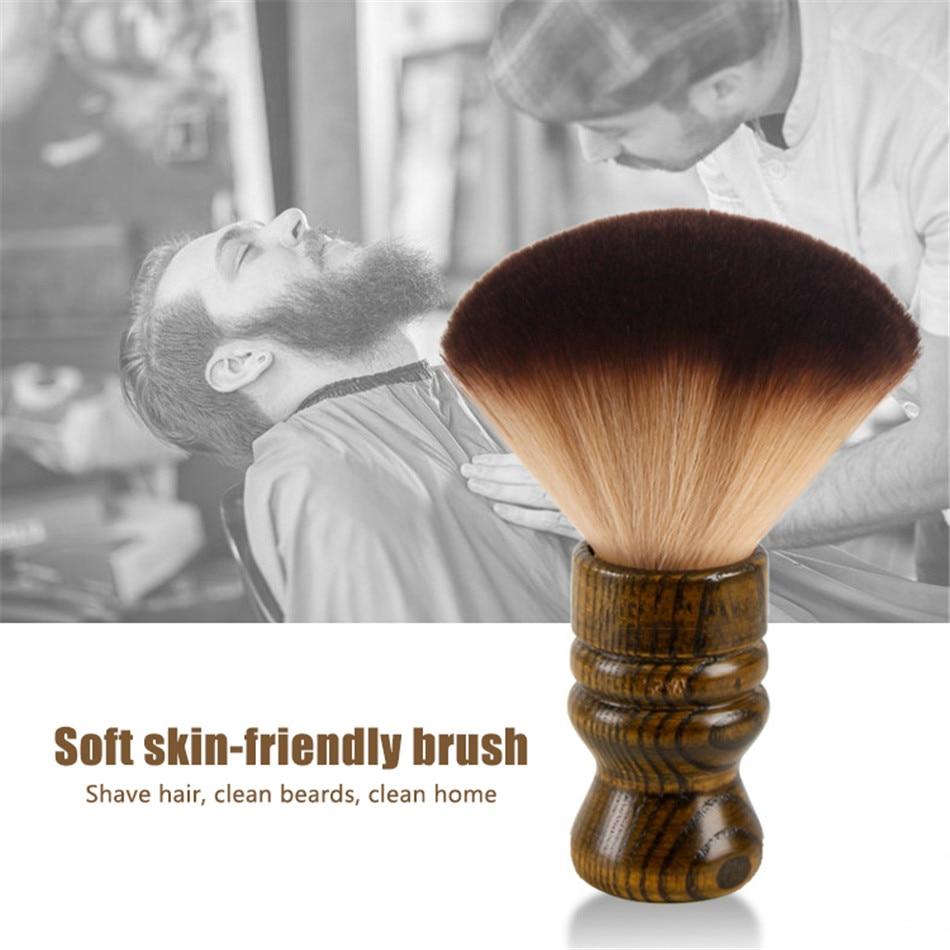 Cepillo de pelo de nailon para limpieza facial de peluquero suave con plumero y cuello grande