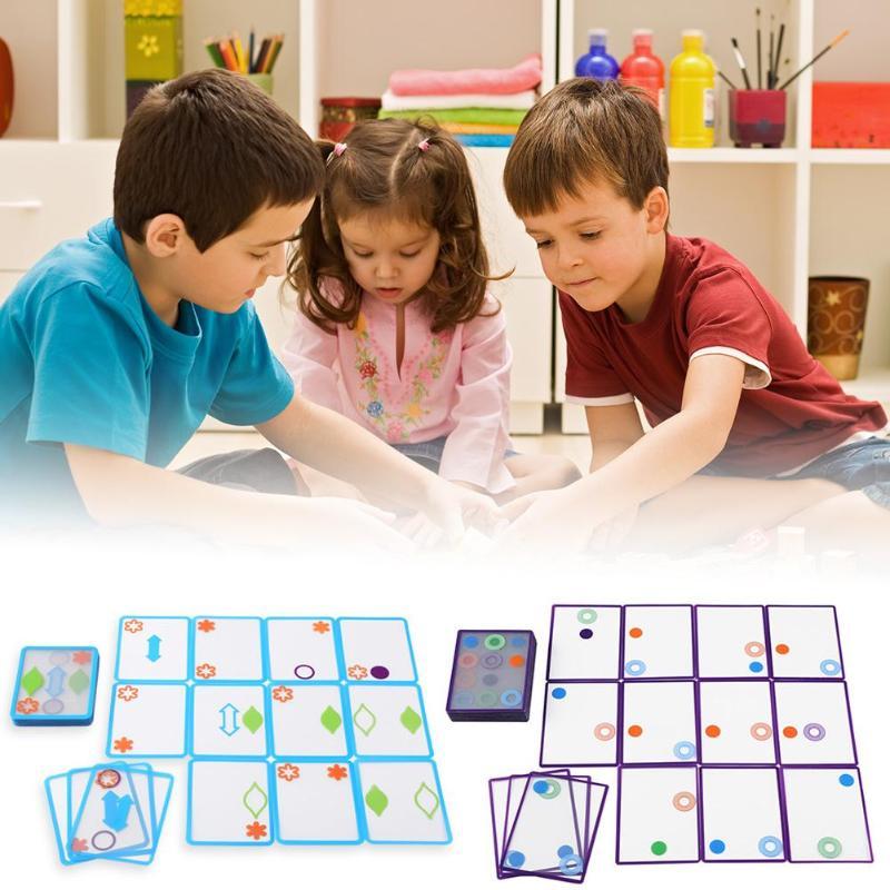 Sobreposição de Cartão de Jogo de Lógica Espacial Swish Set Caçoa o Presente Inteligente Cultivo do Trem Do Brinquedo Do Miúdo Conjunto Geometria Cognição